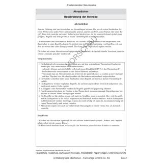 Akrostichon: einen konkreten Begriff schnell und eigenständig erarbeiten