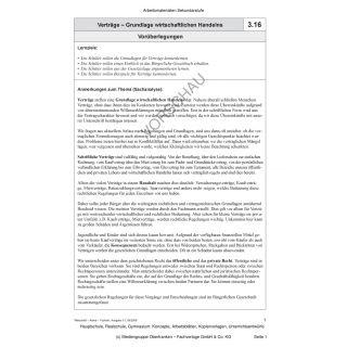 Verträge - Grundlage wirtschaftlichen Handelns