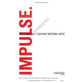 IMPULSE - Wie Lehren und Lernen leichter wird (von Vera F. Birkenbihl)