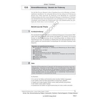 Binnendifferenzierung - Baustein der Förderung