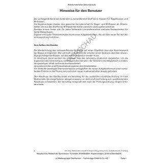 Mathematik komplett - 9. Klasse: Vorschlag für die zusätzliche mündliche Prüfung im Fach Mathematik