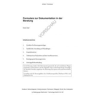 Formulare zur Dokumentation in der Beratung