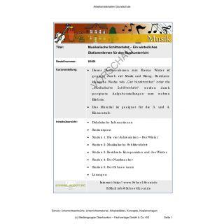 Musikalische Schlittenfahrt - Ein winterliches Stationenlernen (3.-4. Klasse)