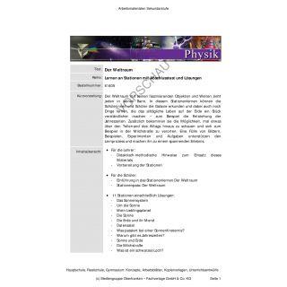 Der Weltraum (Stationenlernen 7.-10. Klasse)