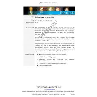 Dialoganalyse im Unterricht (11.-13. Klasse)