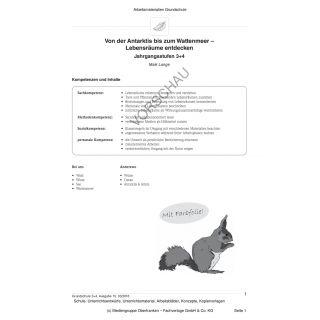 Von der Antarktis bis zum Wattenmeer - Lebensräume entdecken (3.-4. Klasse)
