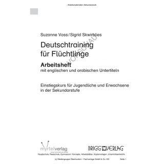 Deutschtraining für Flüchtlinge - Einstiegskurs