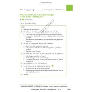 Peerbeziehungen in den ersten Lebensjahren (inkl. Checkliste)