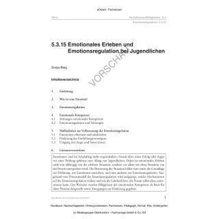 Emotionales Erleben und Emotionsregulation bei Jugendlichen
