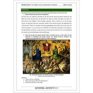 Geschichtstest Religion, Kirche und Klosterleben in der mittelalterlichen Ständegesellschaft