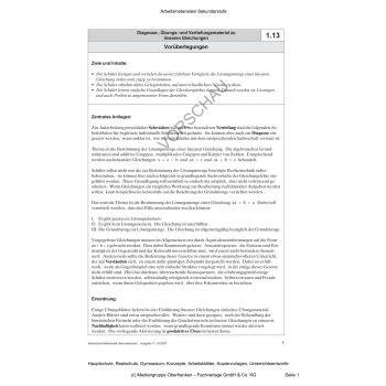Diagnose-, Übungs- und Vertiefungsmaterial zu linearen Gleichungen