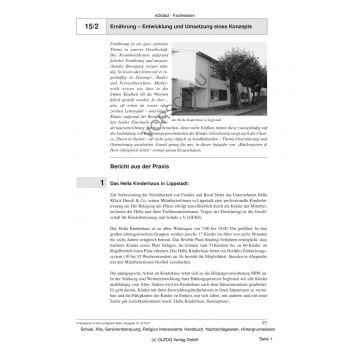 Ernährung - Entwicklung und Umsetzung eines Konzepts