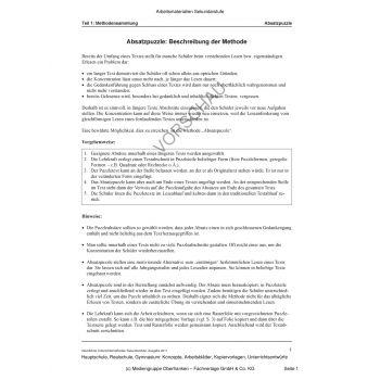 Absatzpuzzle, Textbausteine, Textinterview