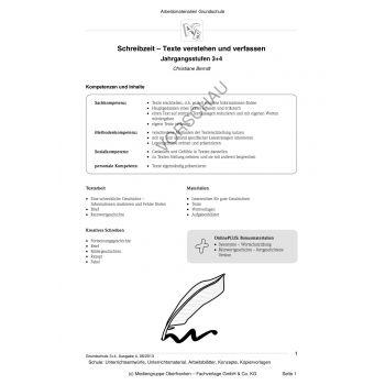 Schreibzeit - Texte verstehen und verfassen (3.-4. Klasse)