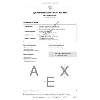 Symmetrische Spielereien mit dem ABC (2. Klasse)