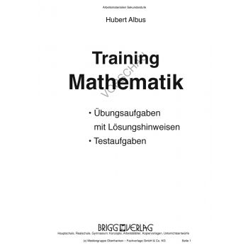 Training Mathematik: Kopiervorlagen mit Tests (9. Klasse)