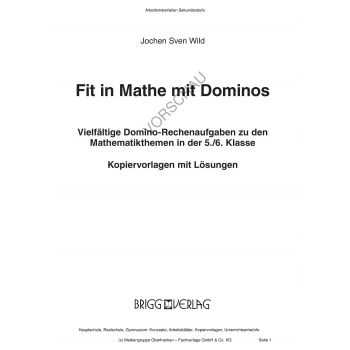 Fit in Mathe mit Dominos